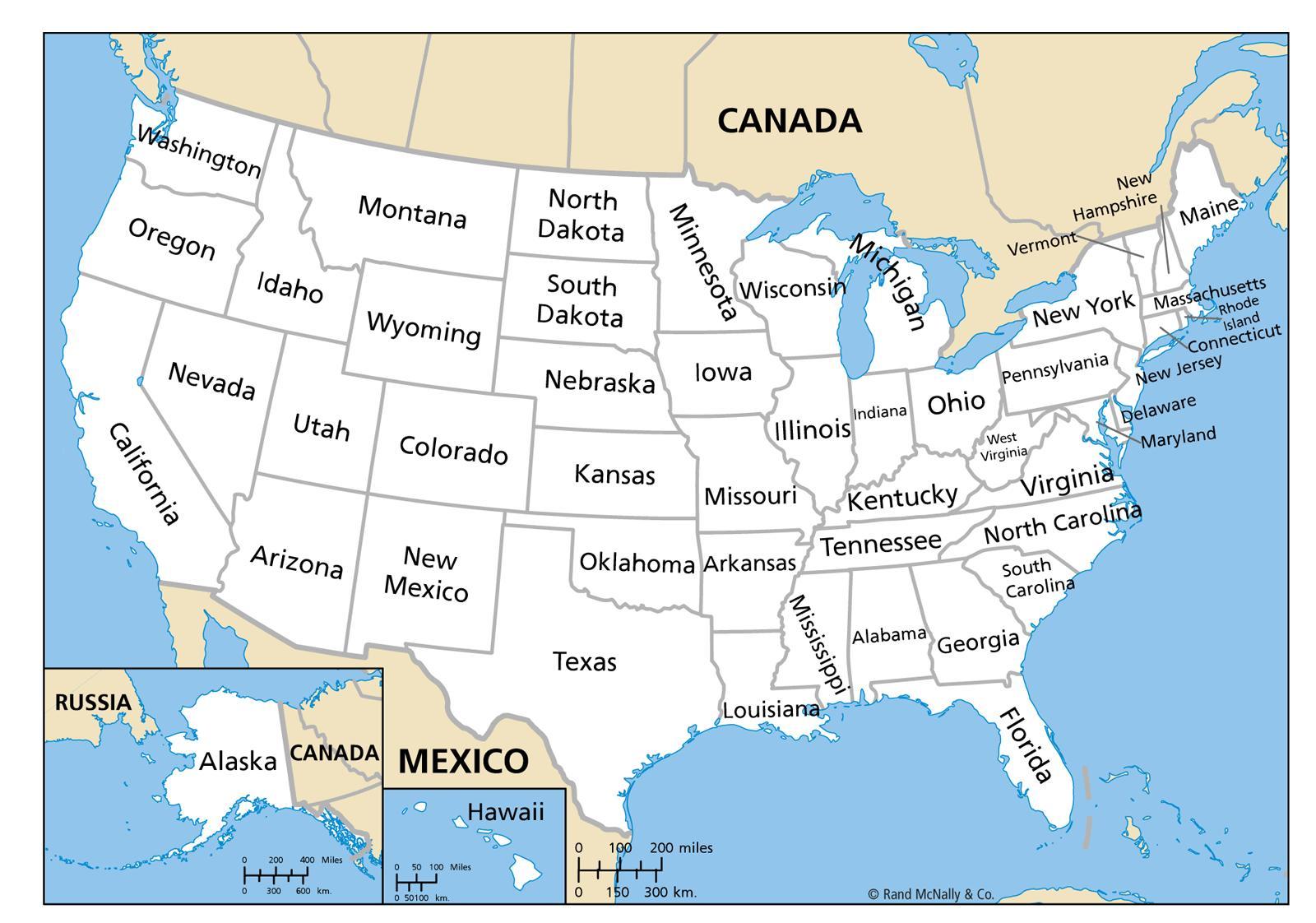 carte de l amérique du nord avec les états Carte des états unis avec les États   Carte des États unis avec